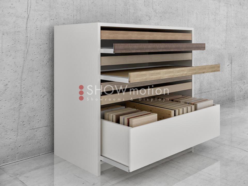 Musterständer Parkett & Holzböden - Schrank zur Austellung - Motion 6 HP1 - Showmotion