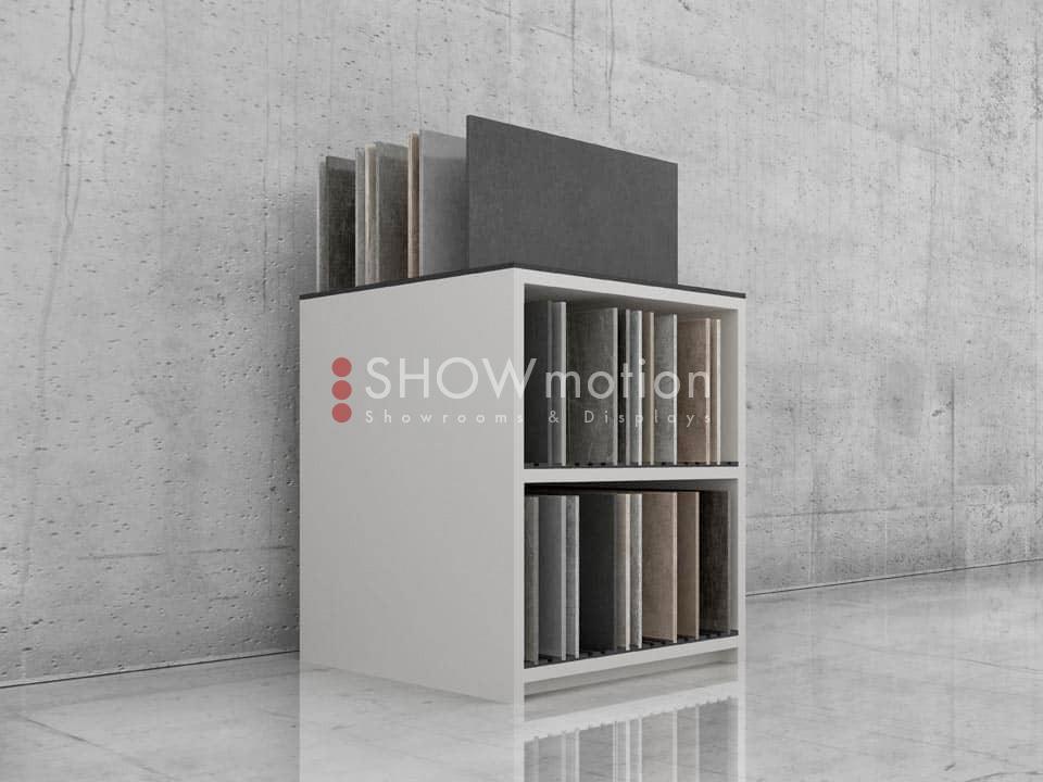 ShowMotion_PLAY 1_espositore per piastrelle sfuse