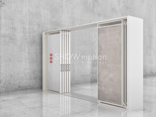 Ausstellungssystem mit 10 oder 20 doppelseitigen Schieberahmen - Showmotion
