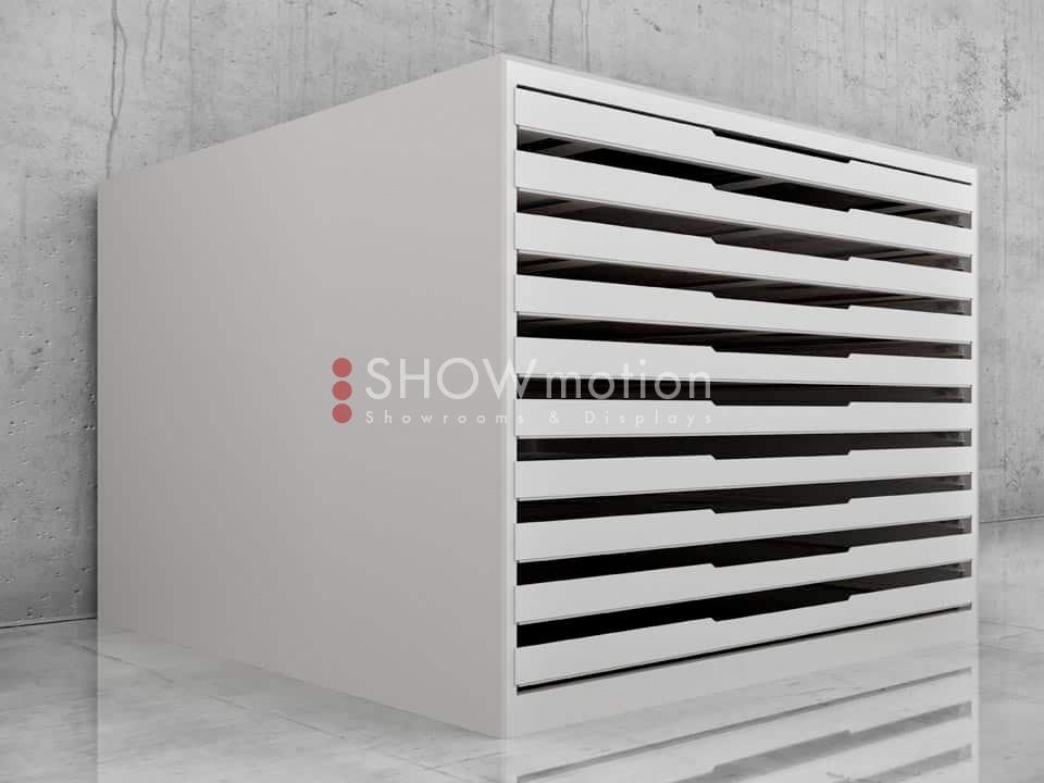 Schwerlast Schubladenschrank Solida für schwere Mustertafeln mit 10 Schubladen - Showmotion