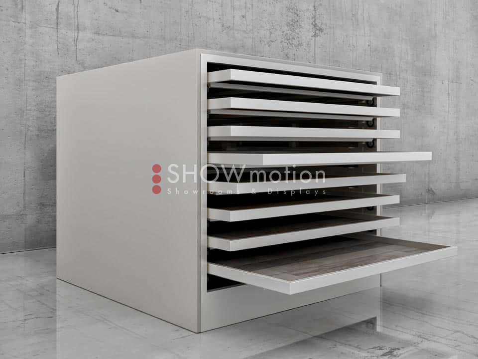 Präsentationmöbel Fliesen - Modell Stabila - Showmotion