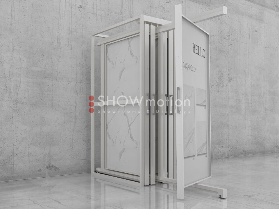 Präsentationmöbel Fliesen - Modell Terra Twist Full - Showmotion