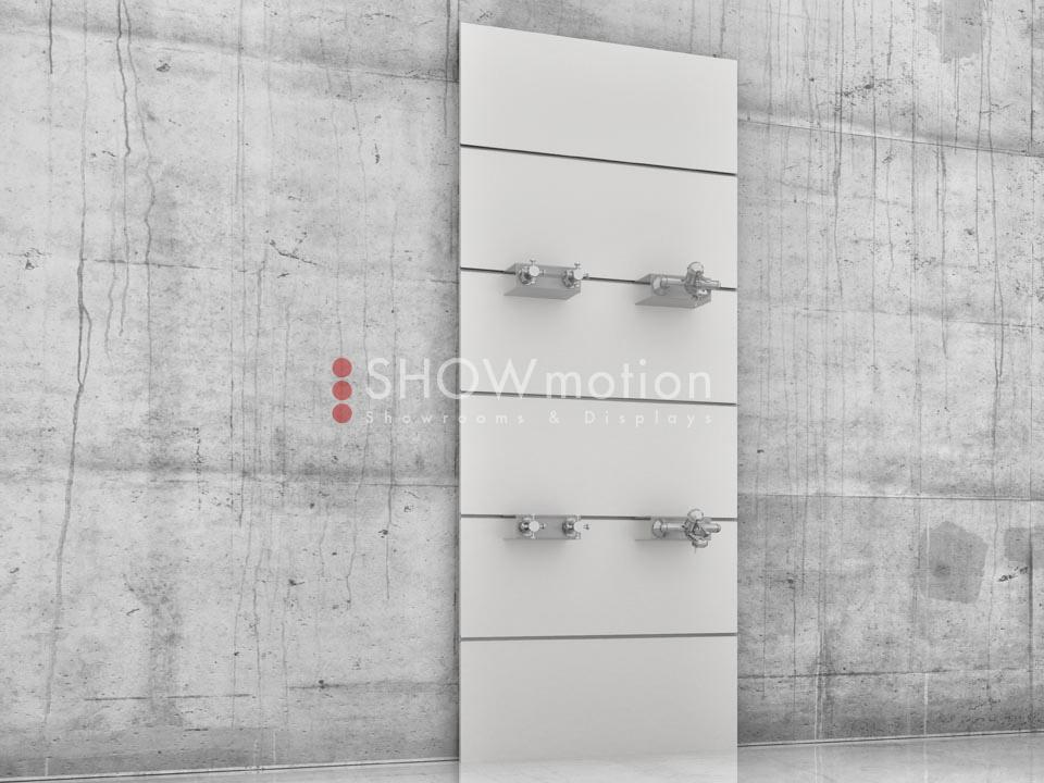 Präsentationmöbel Fliesen - Modell TS Plexi Mono - Showmotion