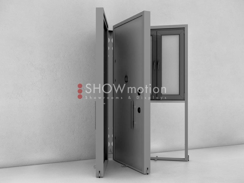 ShowMotion_IMAGE 3_Ausstellungssystem für Haustüren Fenster