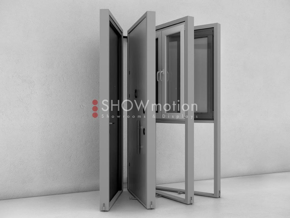 ShowMotion_IMAGE 4_Ausstellungssystem für Haustüren Fenster