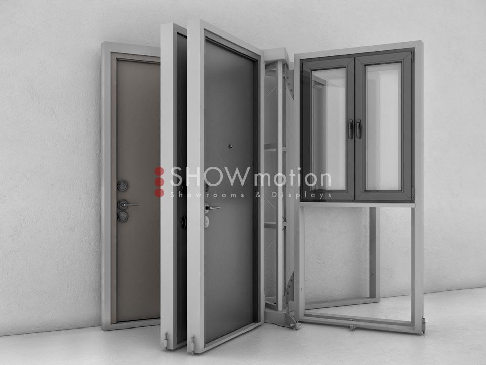 ShowMotion_IMAGE 6 LINEAR_Ausstellungssystem fuer Haustueren und Fenster