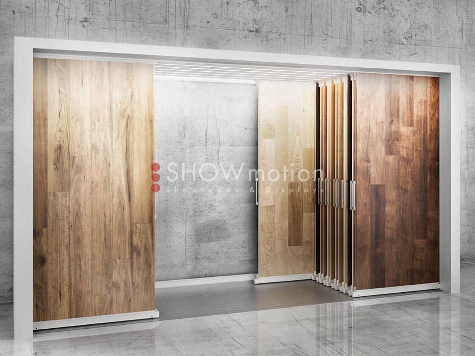 Ausstellungssystem Parkett - Schieberahmen - Modell Lux - Showmotion