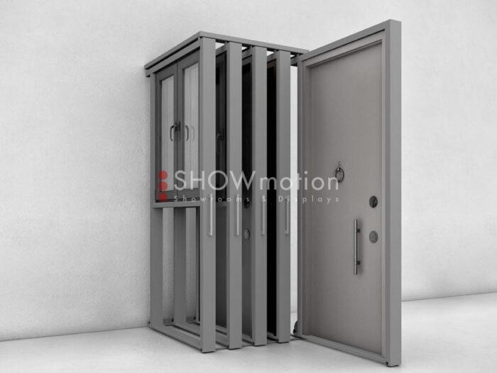 Espositore per porte e finestre - Modello X | ShowMotion