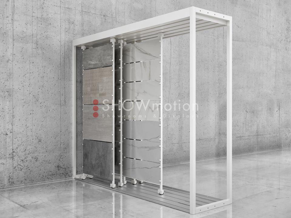 ShowMotion_Lose Maxi Tile 290 DUO_Ausstellungsmodul fuer einzelne Fliesen