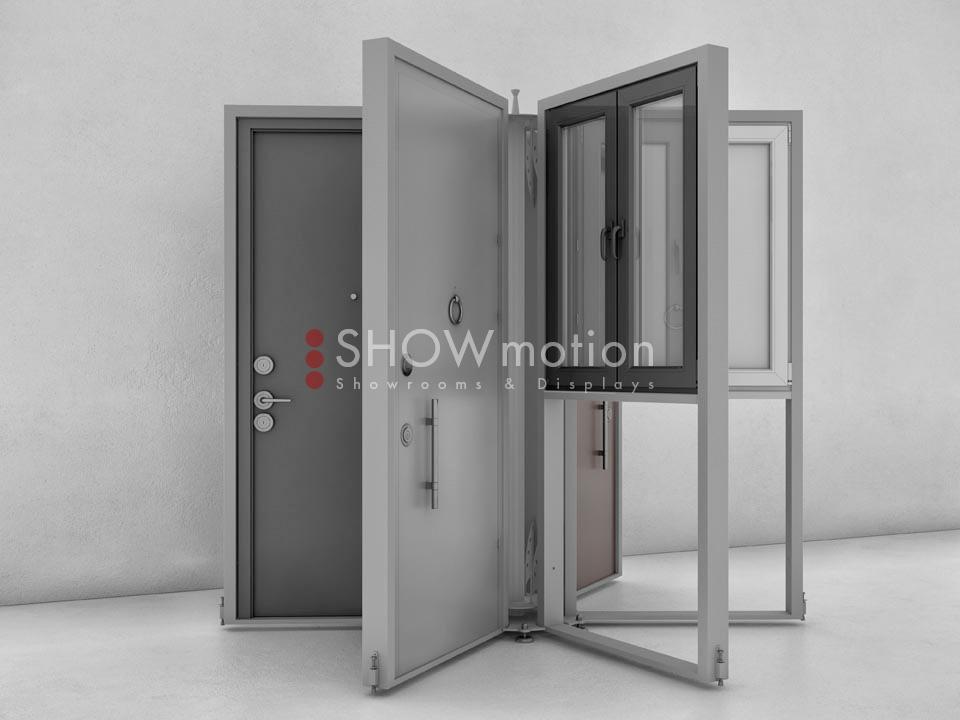 ShowMotion_PIVOT 6_cavalletto per esposizione porte finestre