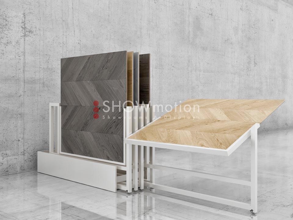 Ständer für Parkett - Modell Rotation Wood - Showmotion