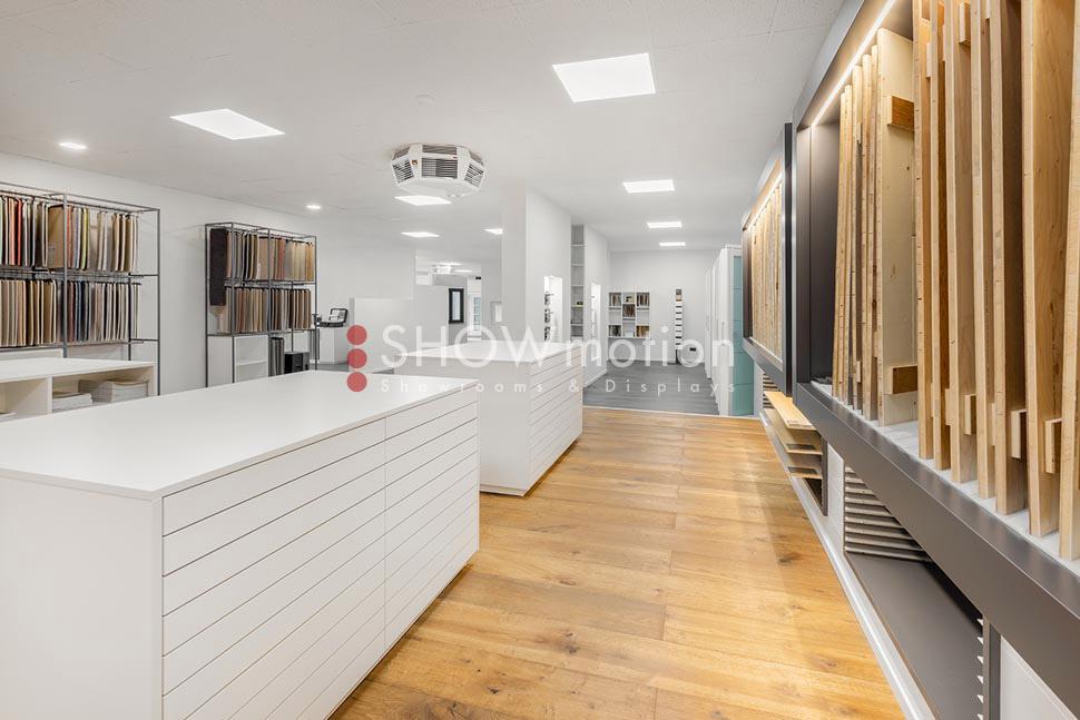 Herzog Bau GmbH Ausstellungssysteme für Parkett Ausstellungssysteme für Türen und Fenster. ShowMotion